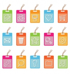 tag icons on white vector image vector image