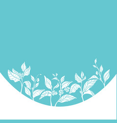 template organic blue 1 vector image vector image