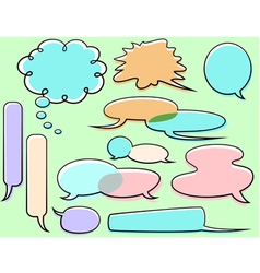 cartoon word balloons vector image