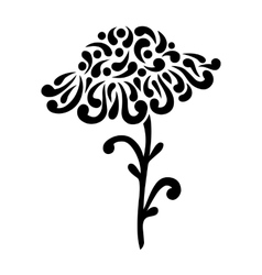 Decorative flower on white background vector image