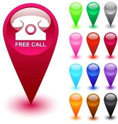 Free call button vector image vector image