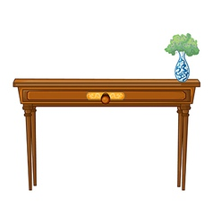 A table and a flowerpot vector image vector image