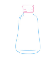 Color line long mason jar preserve decoration vector
