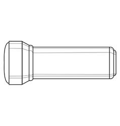 flashlight light equipment vector image