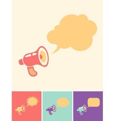 Megaphon and bubblels vector image vector image