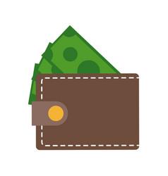 wallet money dollar bill cash image vector image vector image