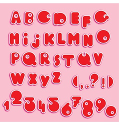 ABC - english alphabet and numerals - funny cartoo vector image
