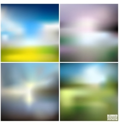 Abstract blurred backgrounds set abstract vector