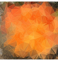 Abstract orange background with triangles vector image