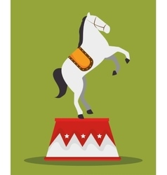 acrobat horse show circus carnival vector image