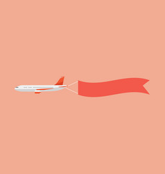 airplane pulls banner vector image