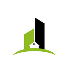 Apartment building logo design inspiration vector