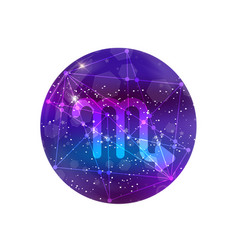 astrological symbol of scorpio abstract shiny vector image