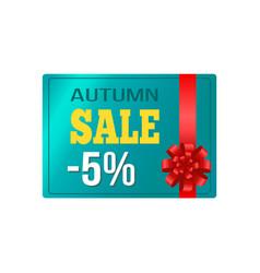 Autumn sale -5 card sample on vector