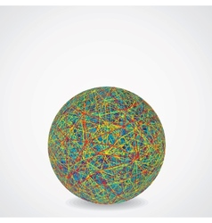 Ball of Chaotic Multicolored Cables vector