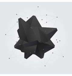 Black polygonal geometric abstract shape figure vector