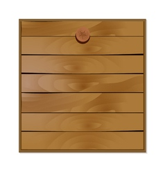 Blank wooden board vector