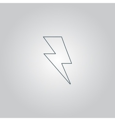 bolt icon vector image