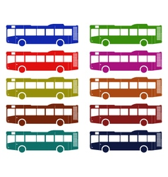 bus on white background vector image