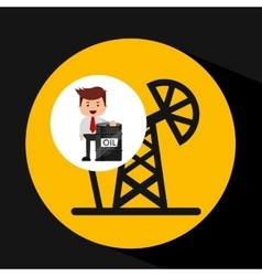 Businessman oil industry pumping vector