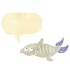 Cartoon fish with speech bubble vector