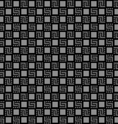 Checkered black seamless pattern vector