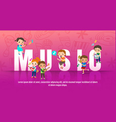 children playing musical instruments music vector image