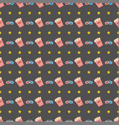 Cinema seamless pattern wallpaper with popcorn vector