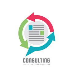 consulting - speech bubbles logo concept vector image