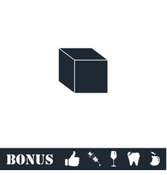 cube icon flat vector image