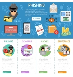Cyber crime phishing infographics vector