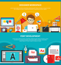 Designer tools composition set vector