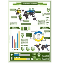 Detail info graphic with ecological symbols vector image
