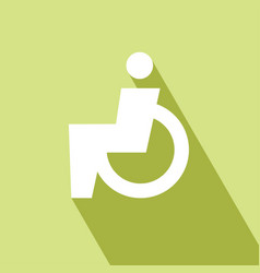 Disabled wheelchair icon vector