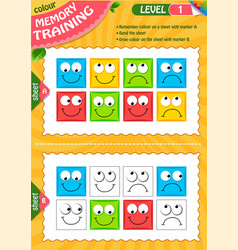 draw colour children adult level vector image