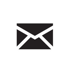 E-mail black icon on white background vector
