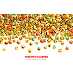 emoticons conceptual art vector image