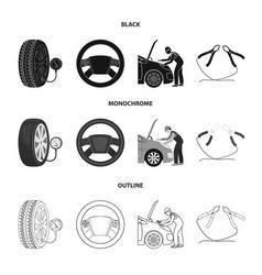 engine adjustment steering wheel clamp and wheel vector image