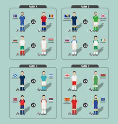 European soccer tournament play off draws 2020 vector