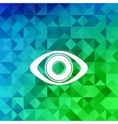 Eye icon human eye symbolTriangle background vector image
