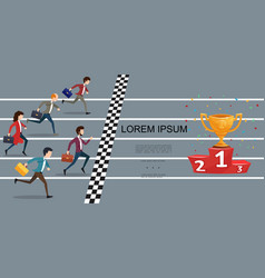 flat business competition concept vector image