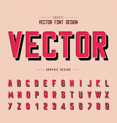 font and alphabet red letter design and graphic vector image