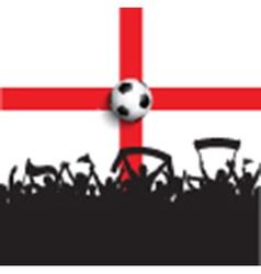 Football supporters on England flag vector