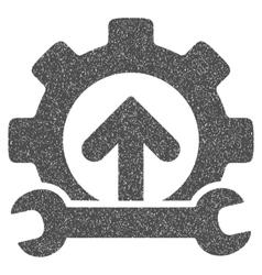 Gear Integration Tools Grainy Texture Icon vector
