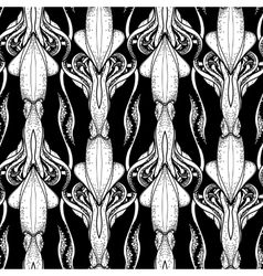 Graphic squid pattern vector