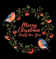 hand drawn merry christmas typography vector image