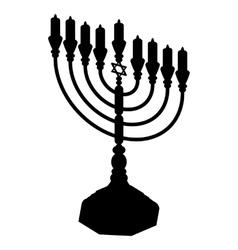 Hanukkah menorah vector
