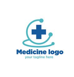 health medicine logo designs vector image