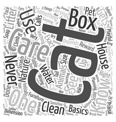 House Cat Care Word Cloud Concept vector image