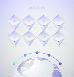 infographic template with set of colorful icons vector image